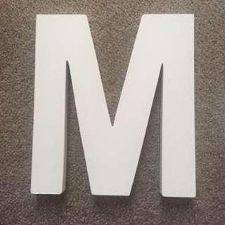 Wooden M