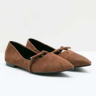 Flat shoes brown berry benka