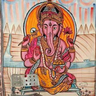 Ganesha Wall/Bed Tapestry - Brand New