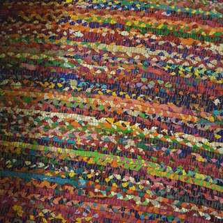 Large ishka floor rug mat rainbow