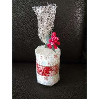 Merry Christmas candles gift set