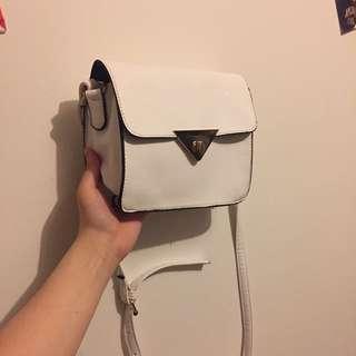 White cute Shoulder Bag Adjustable