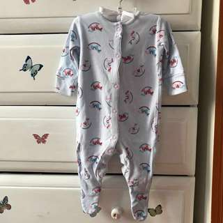 Next baby sleepsuit/ romper (up to 6 mths/6kg)