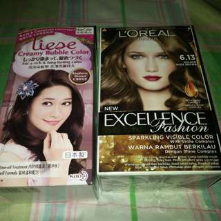 Brand new authentic Loreal and Liese Hair color