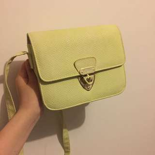 TOPSHOP CUTE YELLOW GREEN SHOULDER BAG CLUTCH