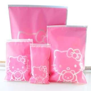 kt防水防塵加厚旅行收納袋 5件套 Kt waterproof dustproof thickening travel storage bag 5 sets