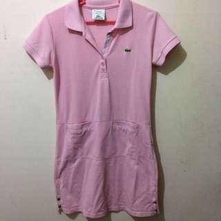 Lacoste inspired baby pink dress