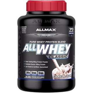 ALLMAX Nutrition, AllWhey Classic, 100% Whey Protein, Cookies & Cream, 5 lbs. (2.27 kg)