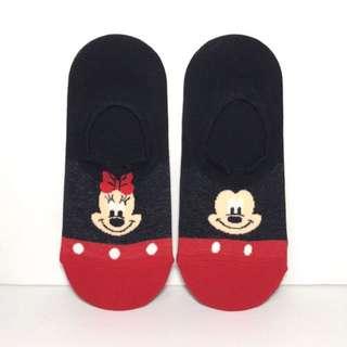 🚚 韓國帶回~Disney迪士尼 米奇&米妮 立體耳朵造型 隱型襪 船型襪 腳踝襪 學生襪 短襪中筒襪