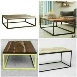 Coffee Table uk 100x50x50 / Meja Lesehan Minimalis / Meja Makan / Meja Keluarga / Meja Tamu