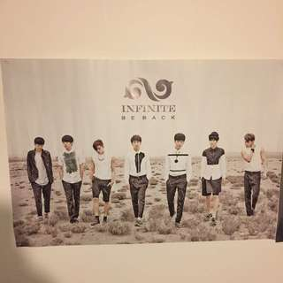 INFINITE BE BACK ALBUM POSTER REPACKAGED