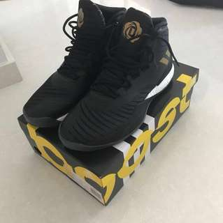 Adidas Drose 8 black gold Basketball shoes US9.5