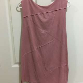 Blush/rose gold summer dress size 8