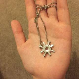 SILVER NECKLACE STAR SUN SNOWFLAKE EXO BAEKHYUN KPOP KOREAN