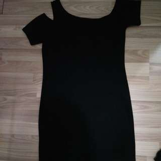 BNWOT UK 14 BODYCON COLD SHOULDER DRESS