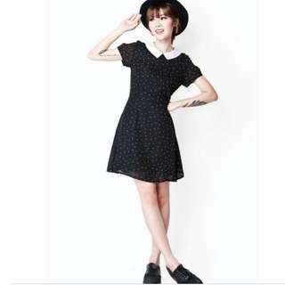AFA Swift Polka Dot Collar Dress