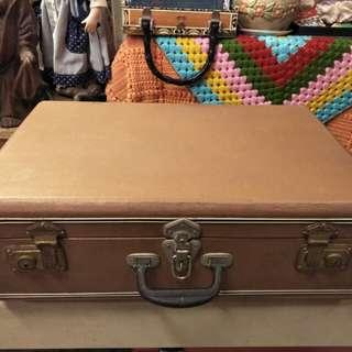 早期復古手提老皮箱 手提行李箱