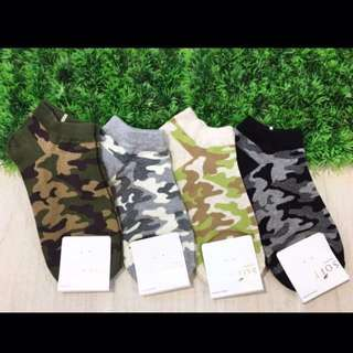🚚 韓國帶回~女版 迷彩圖案 迷彩襪 短襪 腳踝襪 學生襪