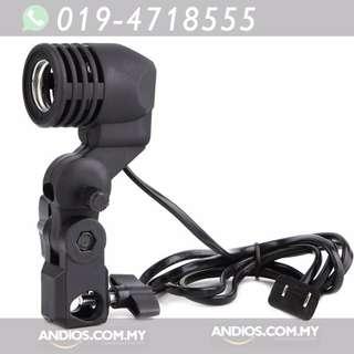 In-Stock✔E27 Bulb Holder Socket for umbrella studio photo light stand adapter
