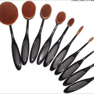 10 Pcs Paddle Brush Set