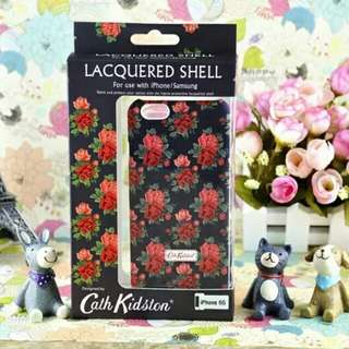 Cath kidston Roses Black Lacquered Shell Phone Case iPhone 6/7/7P/8/8P