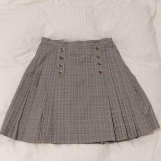 銀穗en suey格紋百褶裙