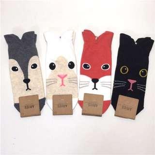 🚚 韓國帶回~可愛造型動物襪 中筒襪 短襪學生襪