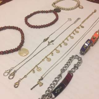 NECKLACES + BRACELETS + RINGS