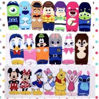 🚚 韓國帶回~Disney 迪士尼 最新款立體耳朵造型 短襪 學生襪 中筒襪
