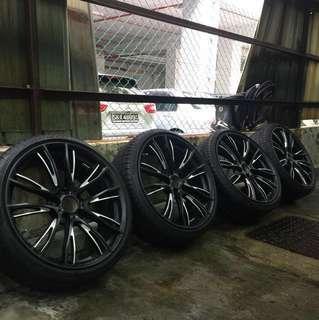 "20"" Rims BMW M Performance Rims w tyres"