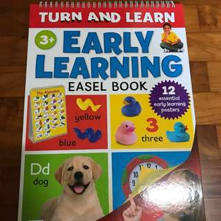 Turn & learn Easel learning book