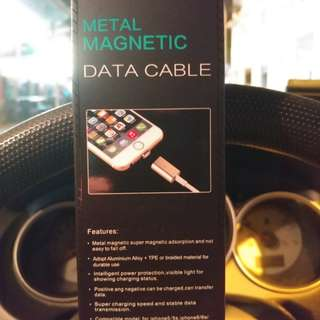 Metal Magnetic type C data cable