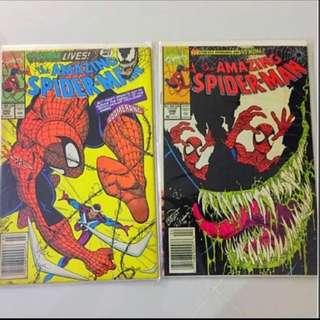 Amazing Spider-Man #345 & #346 Marvel Comic