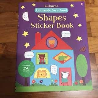Usborne Shapes sticker book
