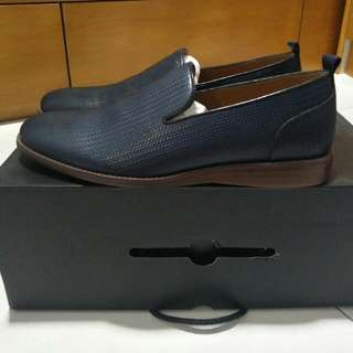 Aldo Men Blue Leather Shoe