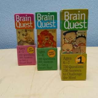Brain Quest set of 3 ( Imported from the US) #midNovember50