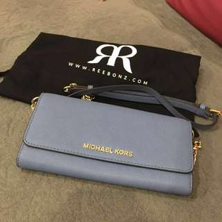 Michael Kors Jet Set Travel Wallet On A Chain