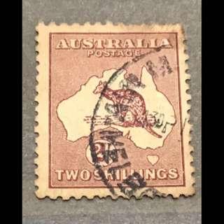 Australia kangaroo 2 shillings Used stamp!