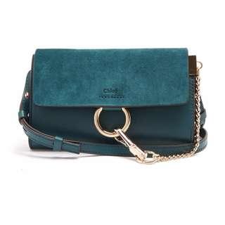 New Chloe Green/back Mini Cross Body Bag