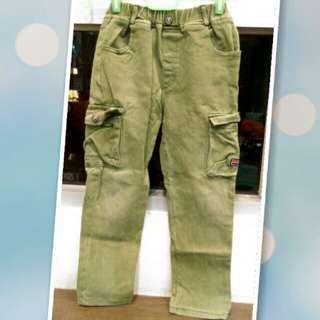 二手童褲 綠色 120cm