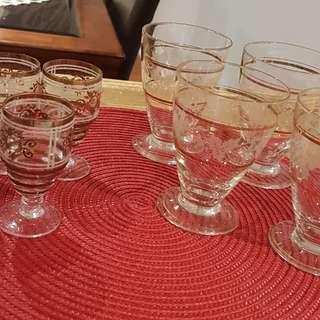 Two beautiful sets of glass wear