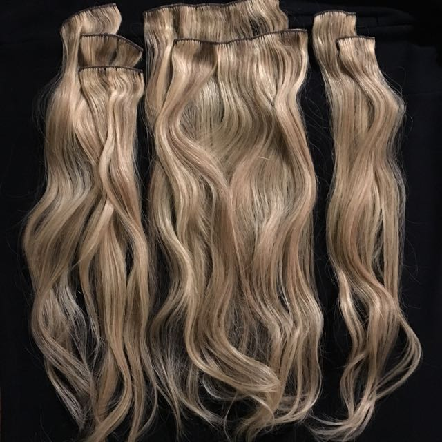 "22"" dirty blonde extensions"