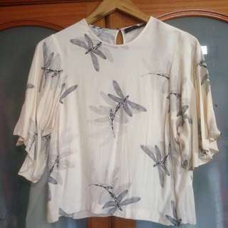 Zara Dragonfly Top