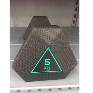 Hexagonal-Shaped Dumbbell 5 Kg (Green) 六角形啞鈴5公斤(綠色)