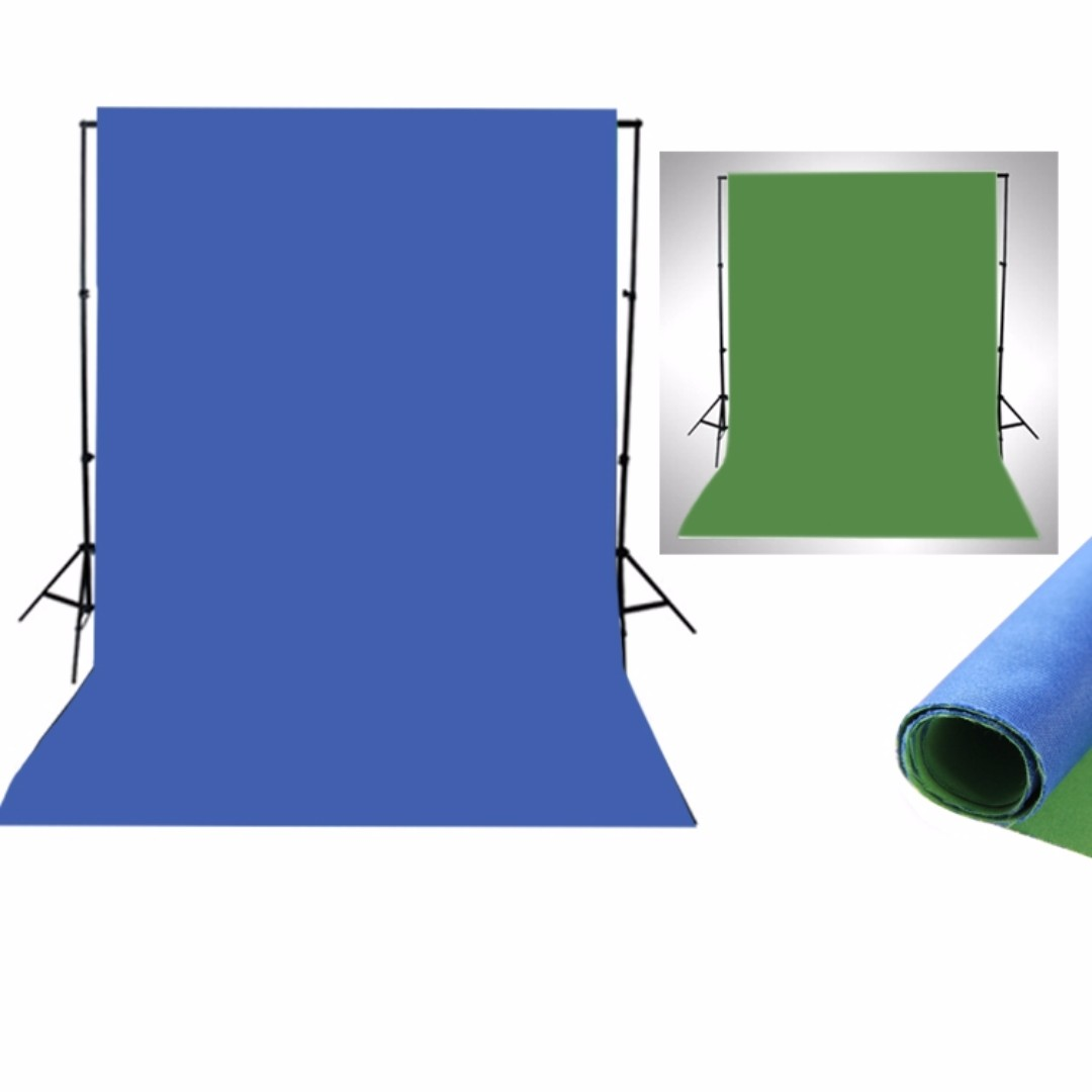 (Out of stock) 2 in 1 Green and Blue backdrop cloth