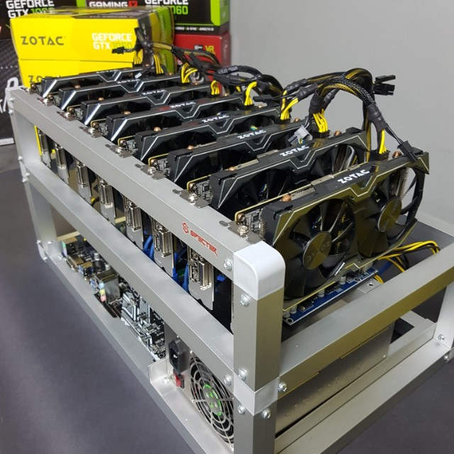 8 GPU Mining Rig 200mh/s (Bitcoin Gold, Ethereum, Zcash, Monero, Alt-Coins  etc)