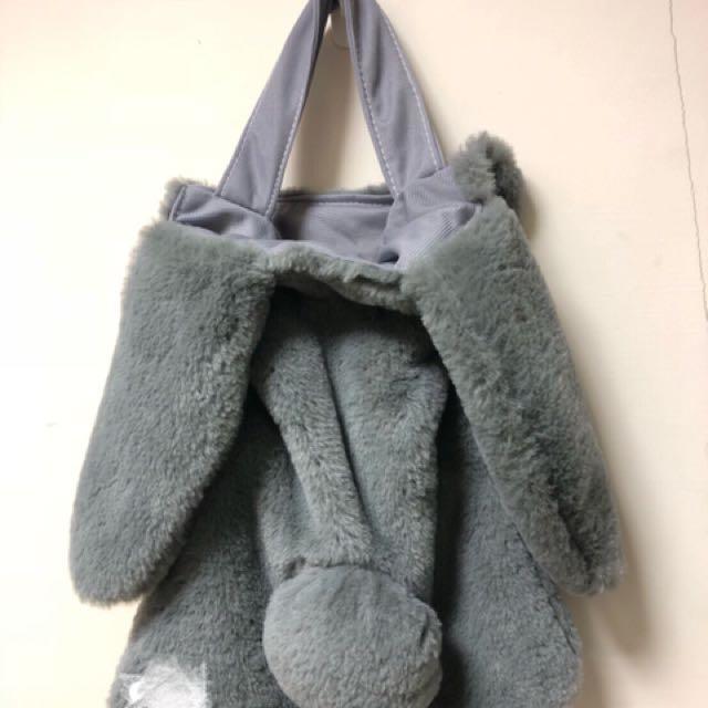 全新灰色兔子🐰手提包