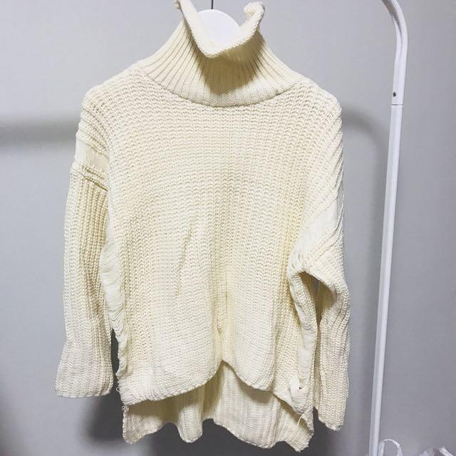 韓版破洞針織毛衣