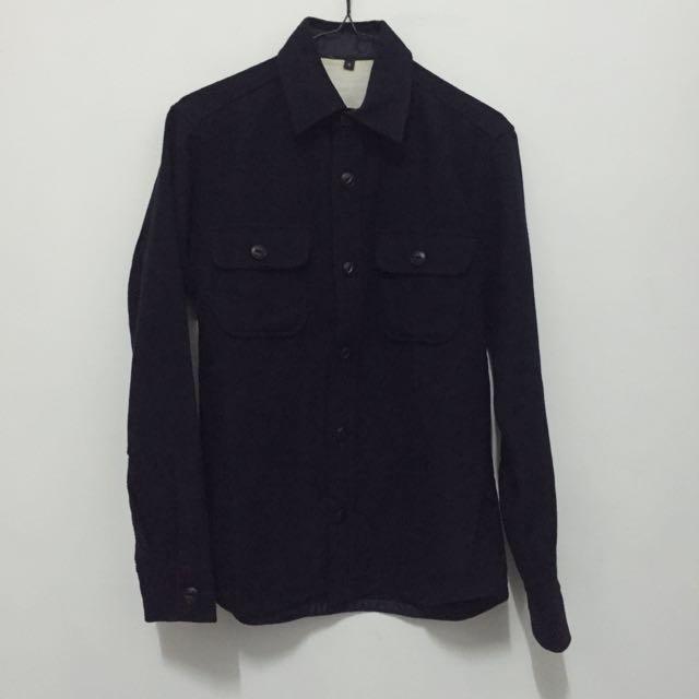 無印良品:法蘭絨襯衫外套