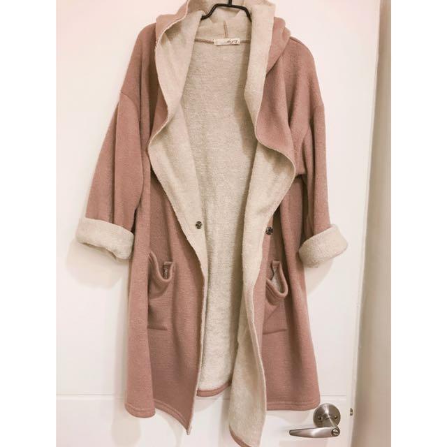 正韓毛巾料外套罩衫